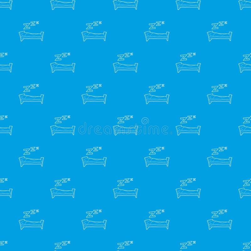 Azul inconsútil del vector del modelo de la cama stock de ilustración