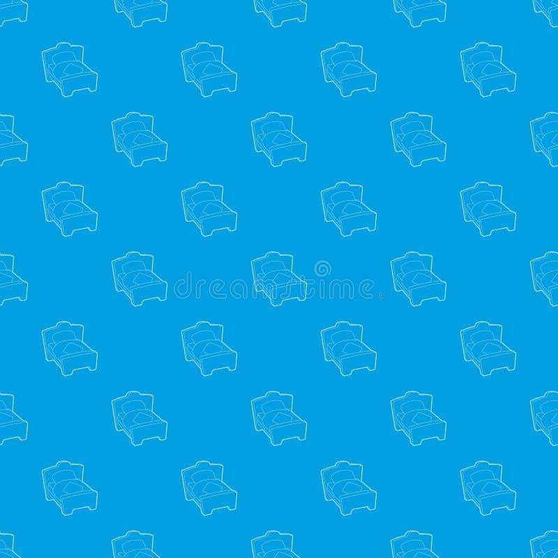 Azul inconsútil del vector del modelo de la cama ilustración del vector