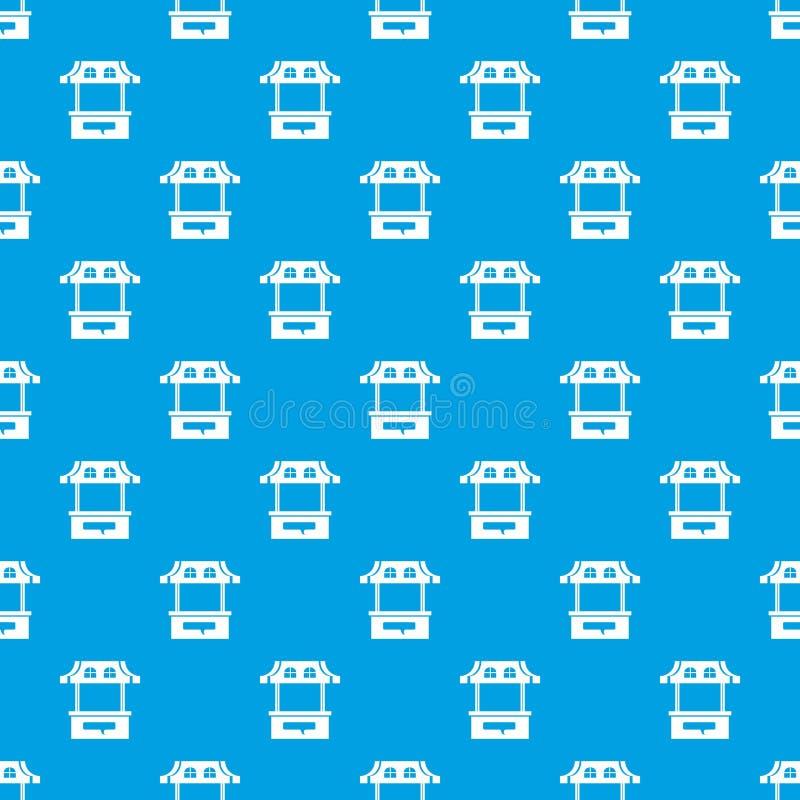 Azul inconsútil del vector del modelo de la parada stock de ilustración