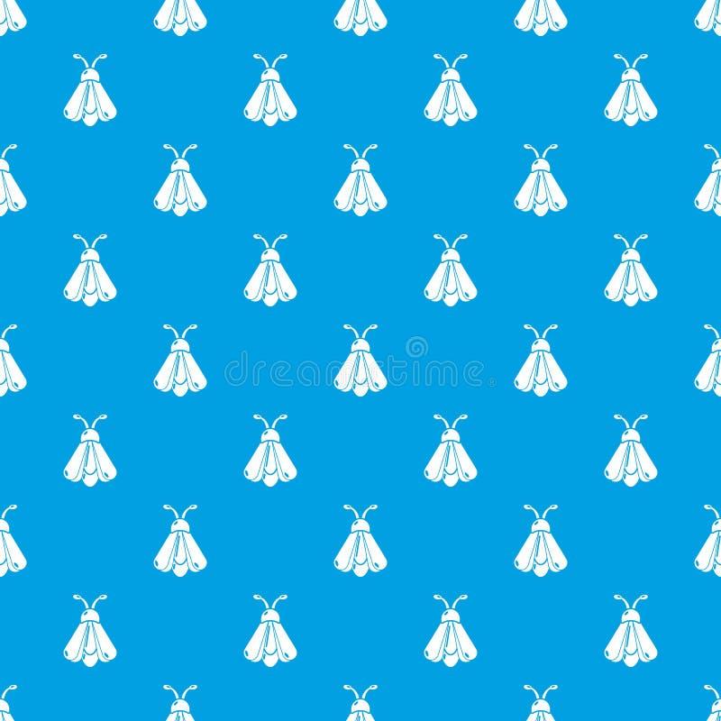 Azul inconsútil del vector del modelo de mariposa ilustración del vector