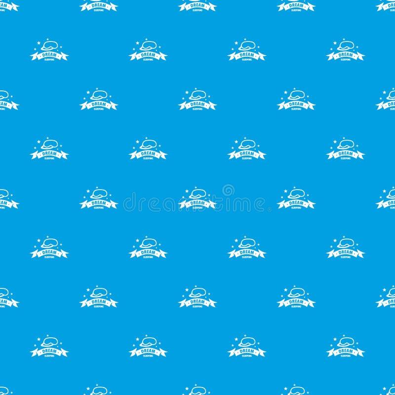 Azul inconsútil del vector del modelo durmiente ilustración del vector