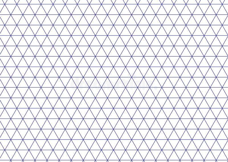 Azul isométrico da grade Linha vetor do triângulo do fundo ilustração royalty free