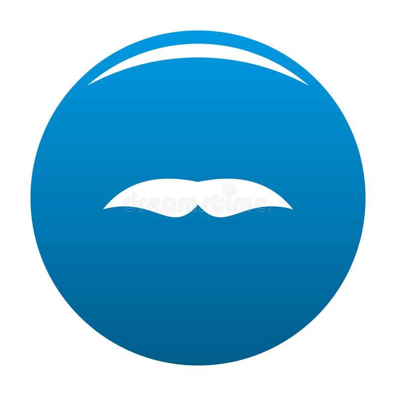 Azul largo do ícone do bigode ilustração royalty free