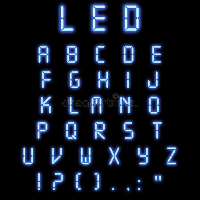 Azul llevado del alfabeto imágenes de archivo libres de regalías