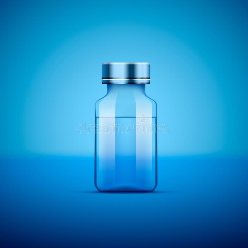 Azul médico da ampola ilustração do vetor