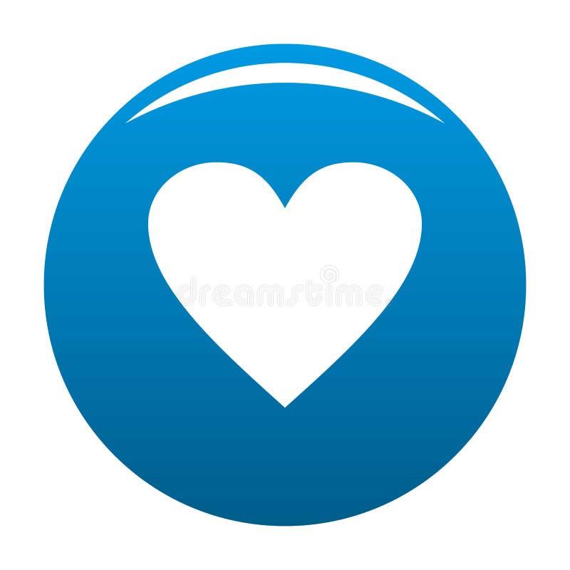 Azul maçante do vetor do ícone do coração ilustração do vetor