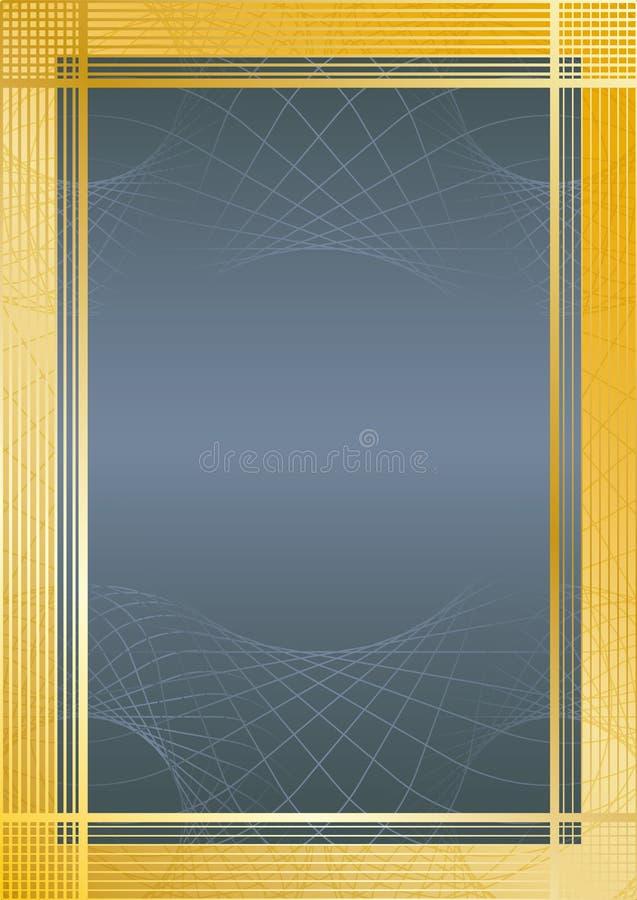 Azul/oro del certificado fotos de archivo libres de regalías
