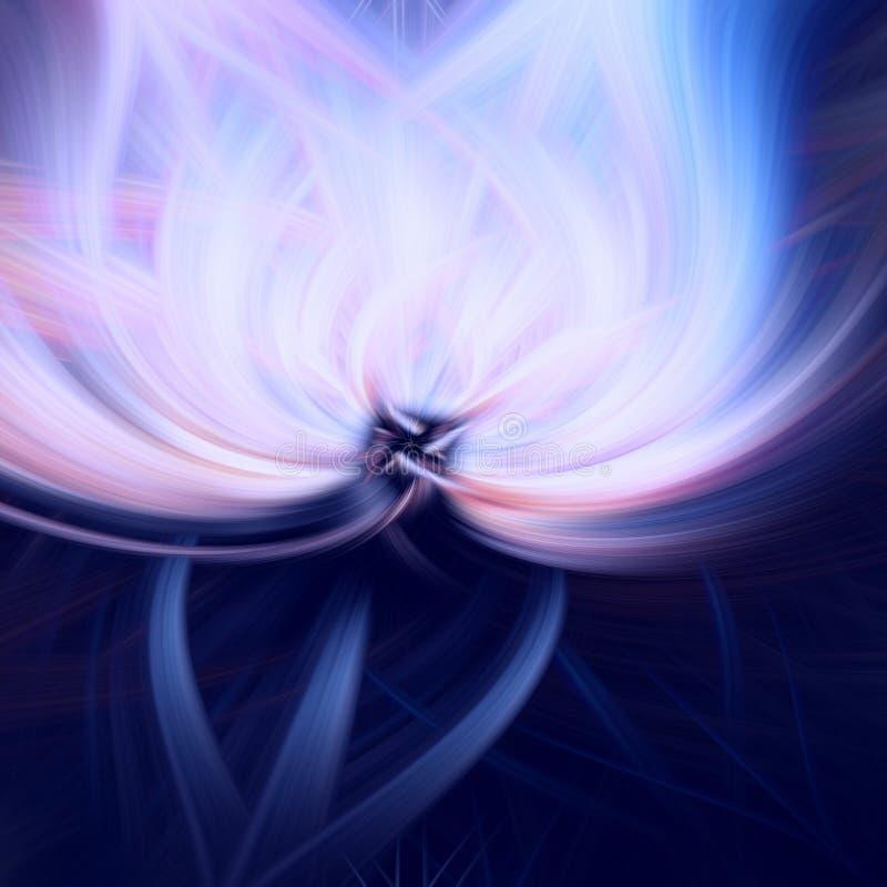 Azul oscuro del fondo del fractal de la llama fantas?a stock de ilustración