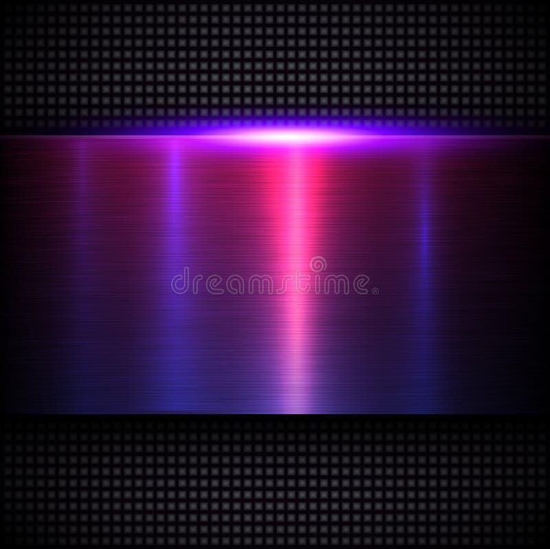 Azul púrpura de la textura metálica del fondo ilustración del vector