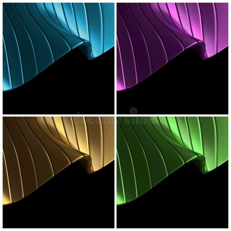 Azul, púrpura, oro, fondo abstracto verde libre illustration