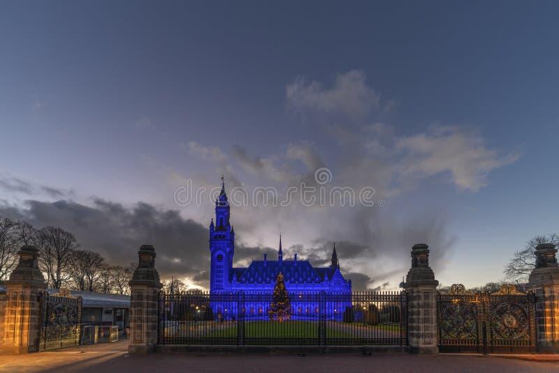 Azul para el día 2018 de los derechos humanos imagen de archivo