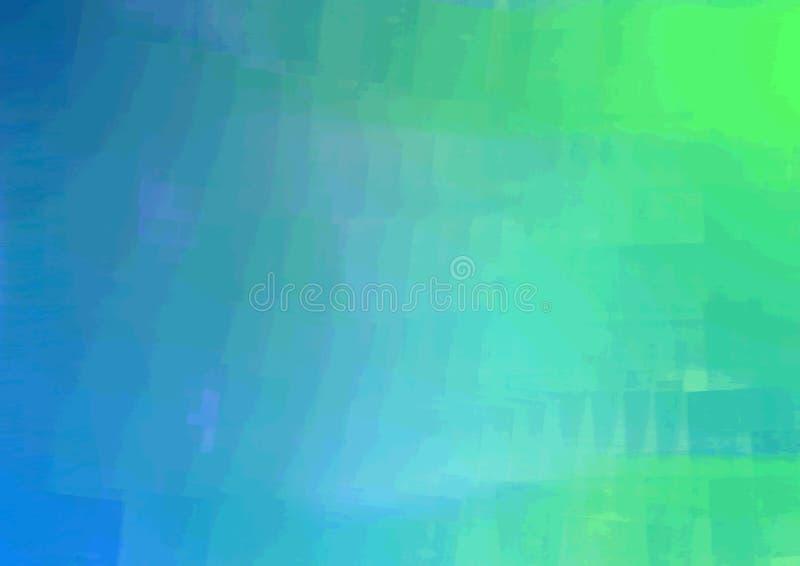 Azul para esverdear o projeto da quadriculação do png do fundo de Fade Paint foto de stock