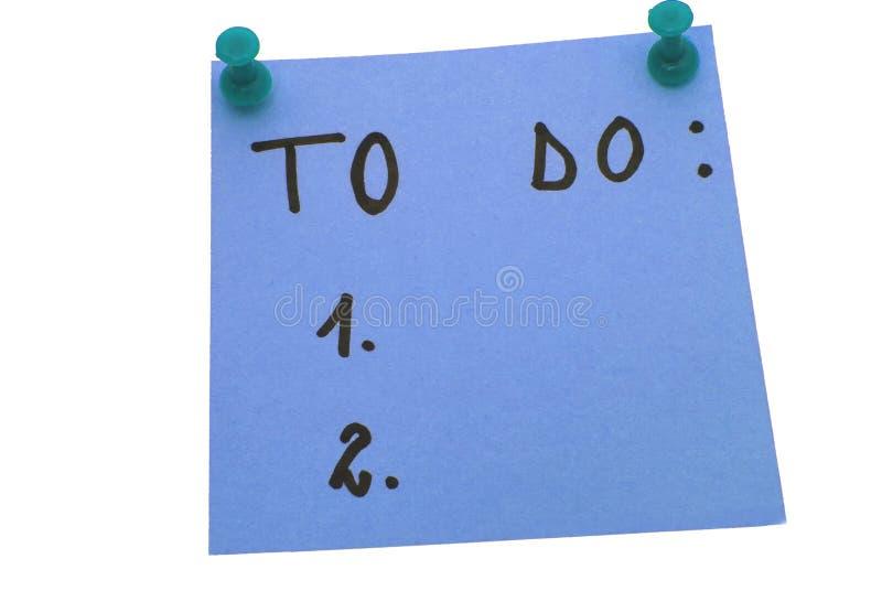 Azul para hacer la lista fotografía de archivo