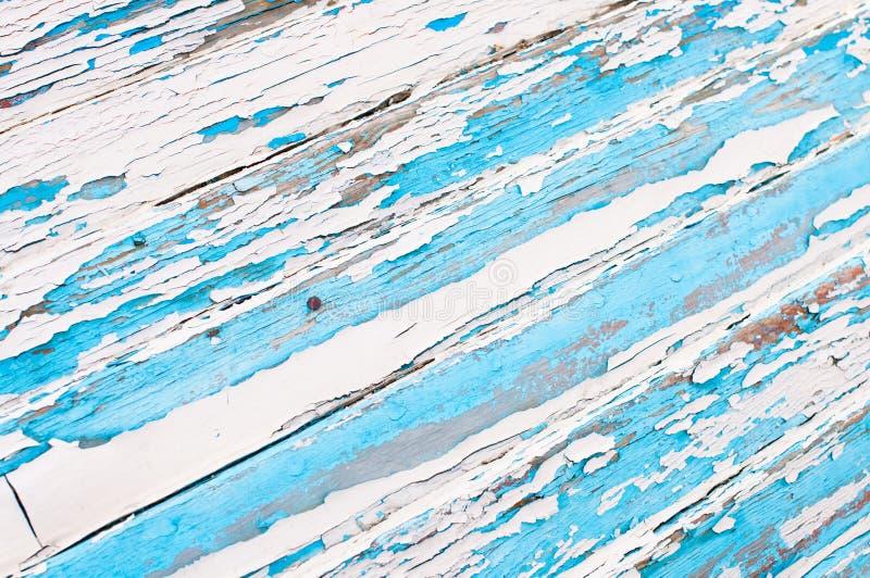 Azul pintado madera vieja y blanco fotos de archivo libres de regalías