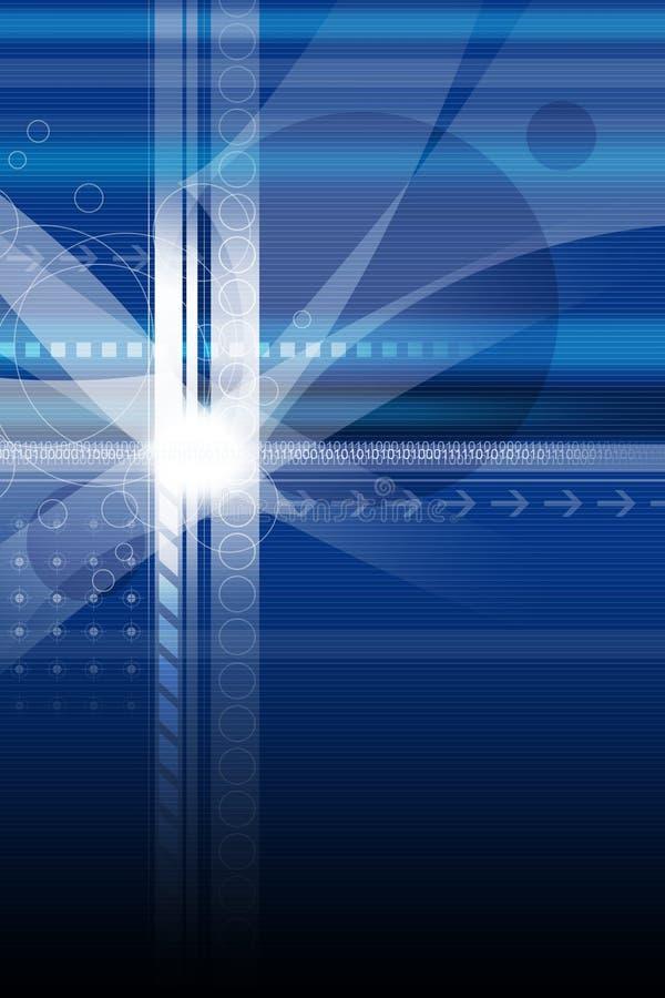 Azul por diseño ilustración del vector