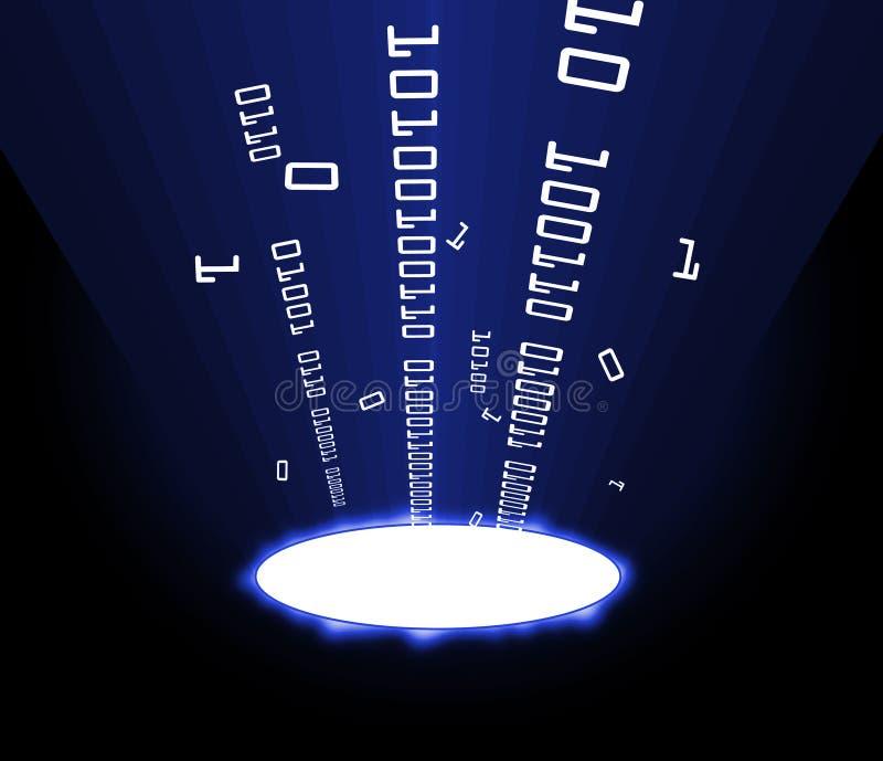 Azul porta de la información libre illustration