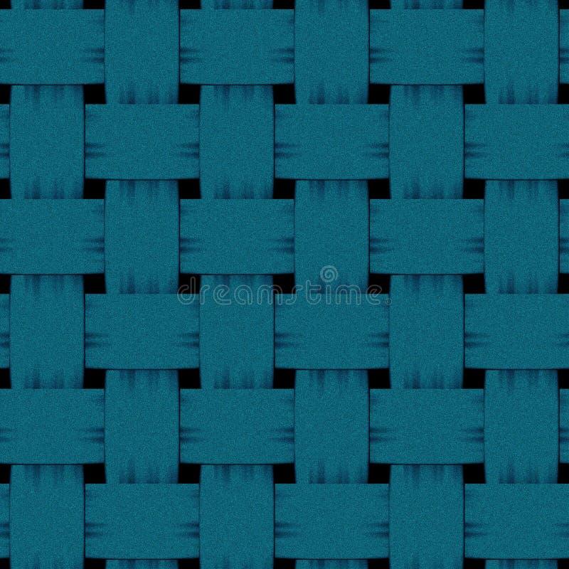 Azul quadrado sarja de Nimes entrelaçada ilustração stock
