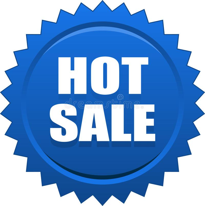 Azul quente do selo do selo da venda ilustração royalty free