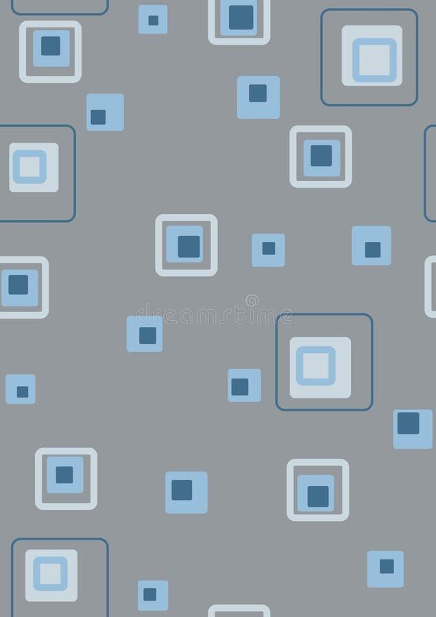 Azul retro ilustración del vector