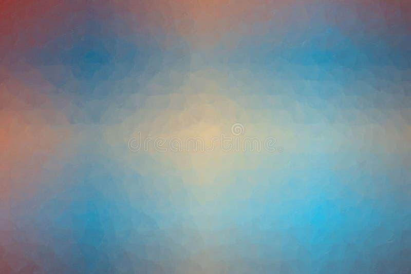 azul, rojo y mosaico en colores pastel de la vainilla a través del ejemplo del fondo de los ladrillos de cristal libre illustration