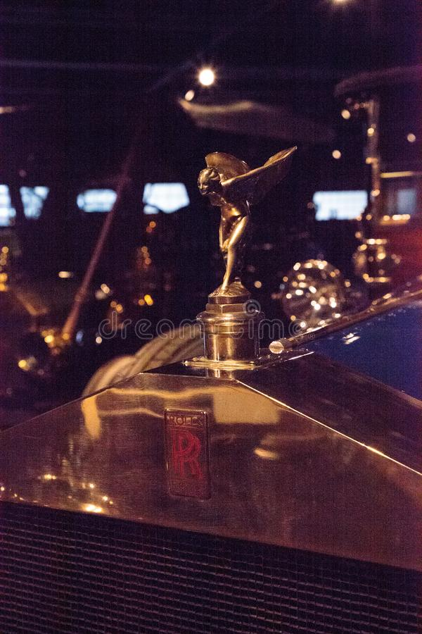 Azul 1914 Rolls Royce Silver Ghost imagenes de archivo
