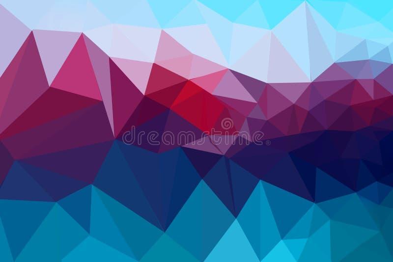 Azul, rosa y fondo púrpura del extracto del polígono Modelo del diseño del polígono para el negocio y la tecnología plantilla tri ilustración del vector