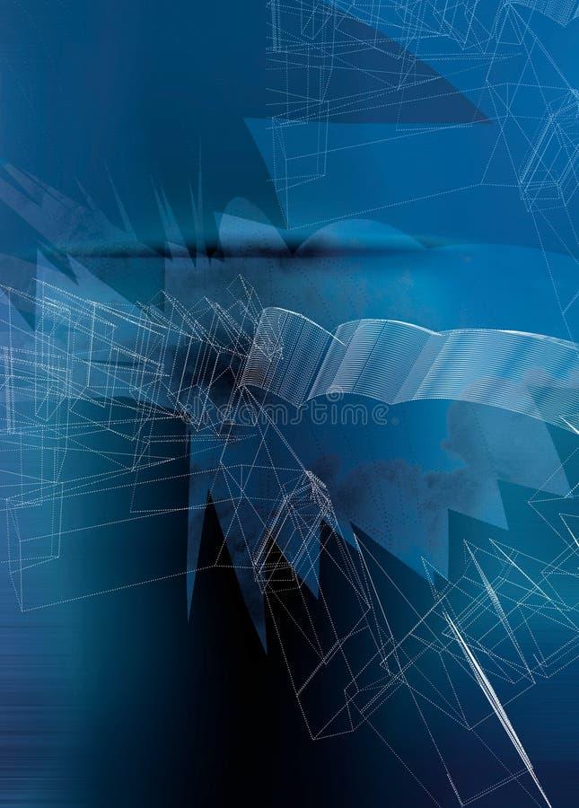 Azul sólido sobrepuesto con las líneas y los tintes libre illustration