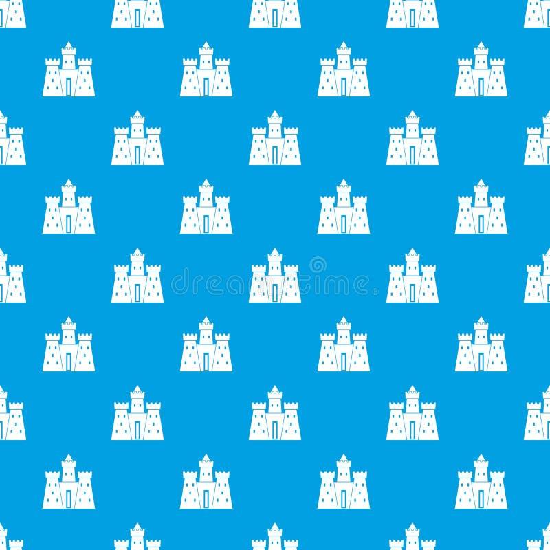 Azul sem emenda do teste padrão antigo do palácio do castelo ilustração stock