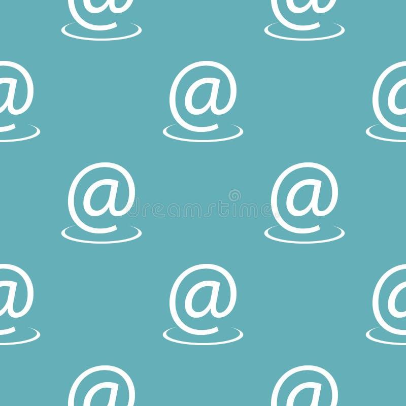 Azul sem emenda do teste padrão do endereço email ilustração stock