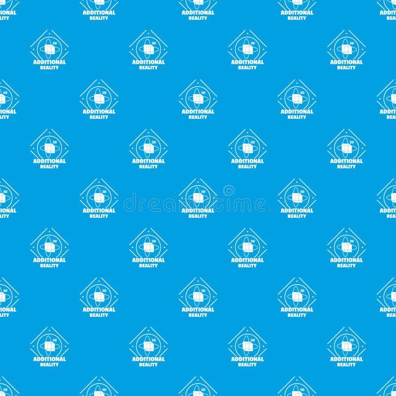 Azul sem emenda do vetor adicional do teste padrão da realidade ilustração do vetor