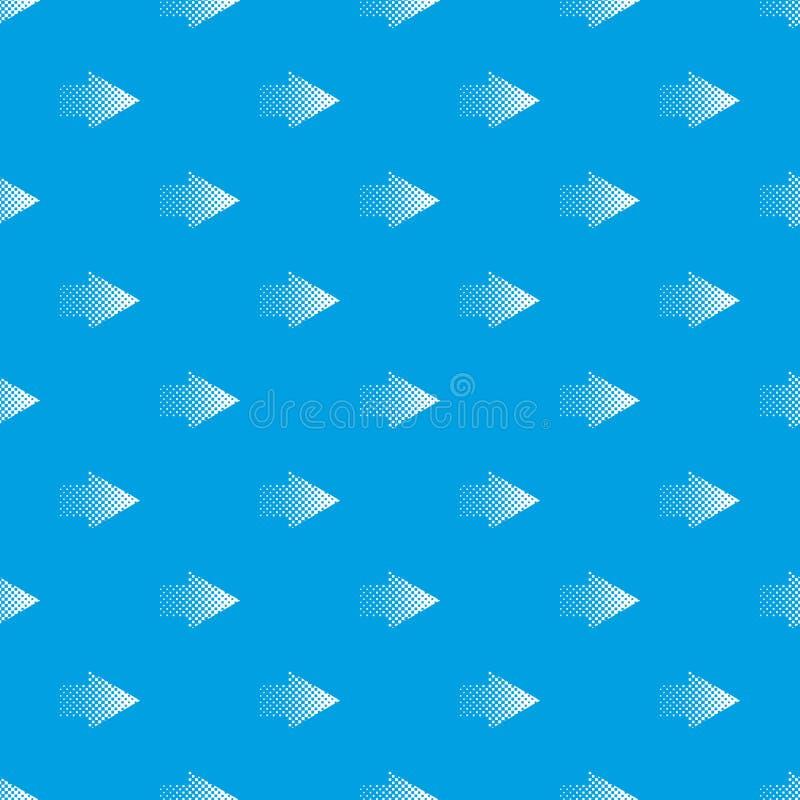 Azul sem emenda do vetor de intervalo mínimo do teste padrão da seta do rigth ilustração stock