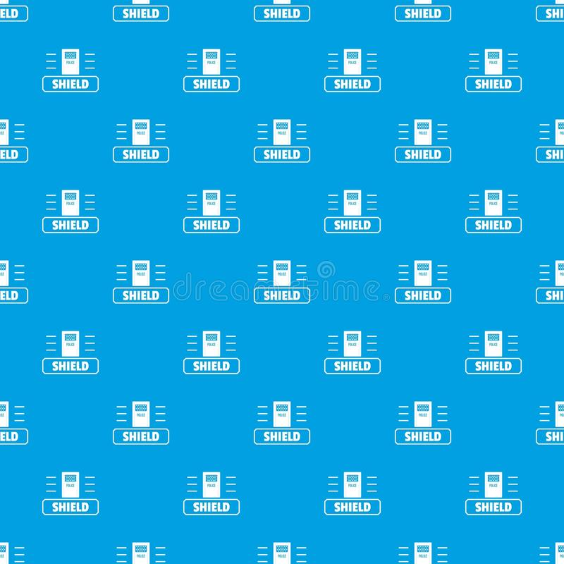 Azul sem emenda do vetor social do teste padrão do protetor do protesto ilustração stock
