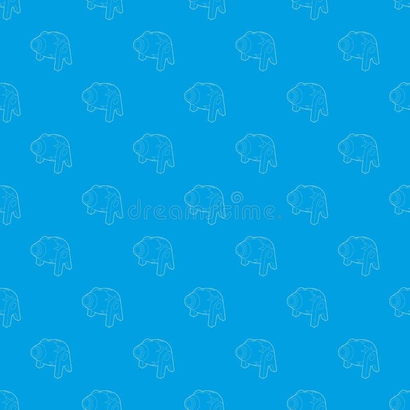 Azul sem emenda do vetor do teste padrão do canhão do circo ilustração royalty free