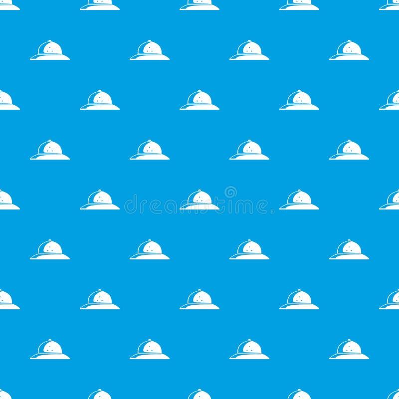 Azul sem emenda do vetor do teste padrão do capacete da cortiça ilustração do vetor