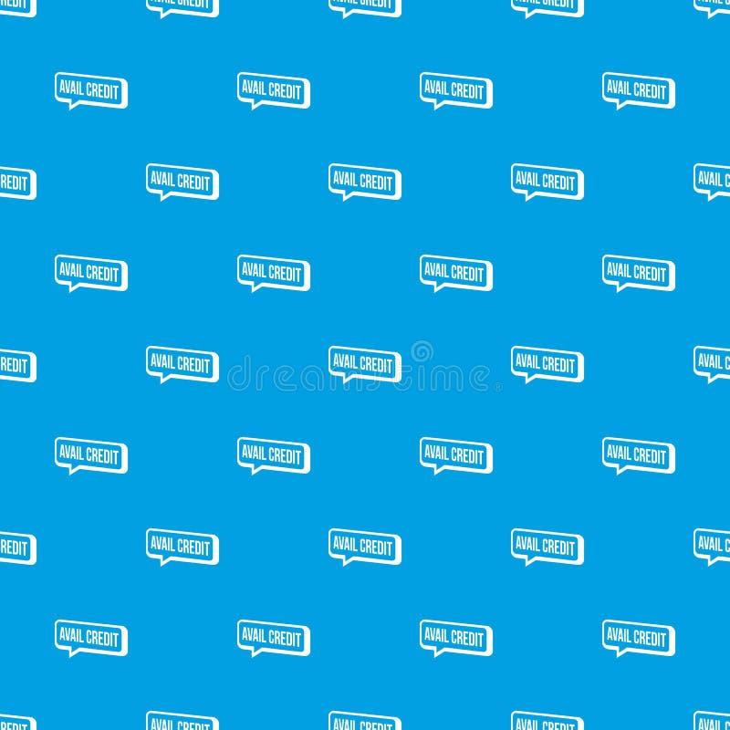 Azul sem emenda do vetor do teste padrão do crédito do proveito ilustração royalty free