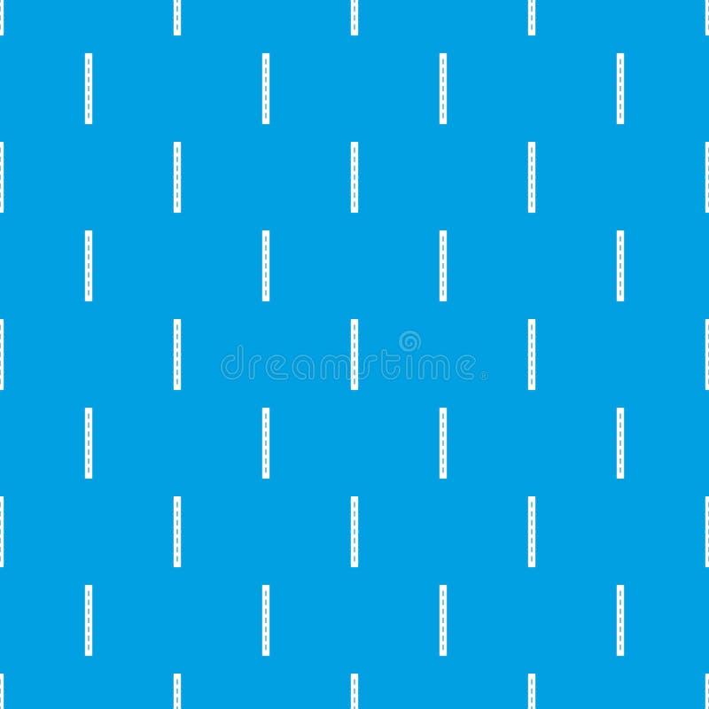 azul sem emenda do vetor do teste padrão da estrada da Único-pista ilustração stock