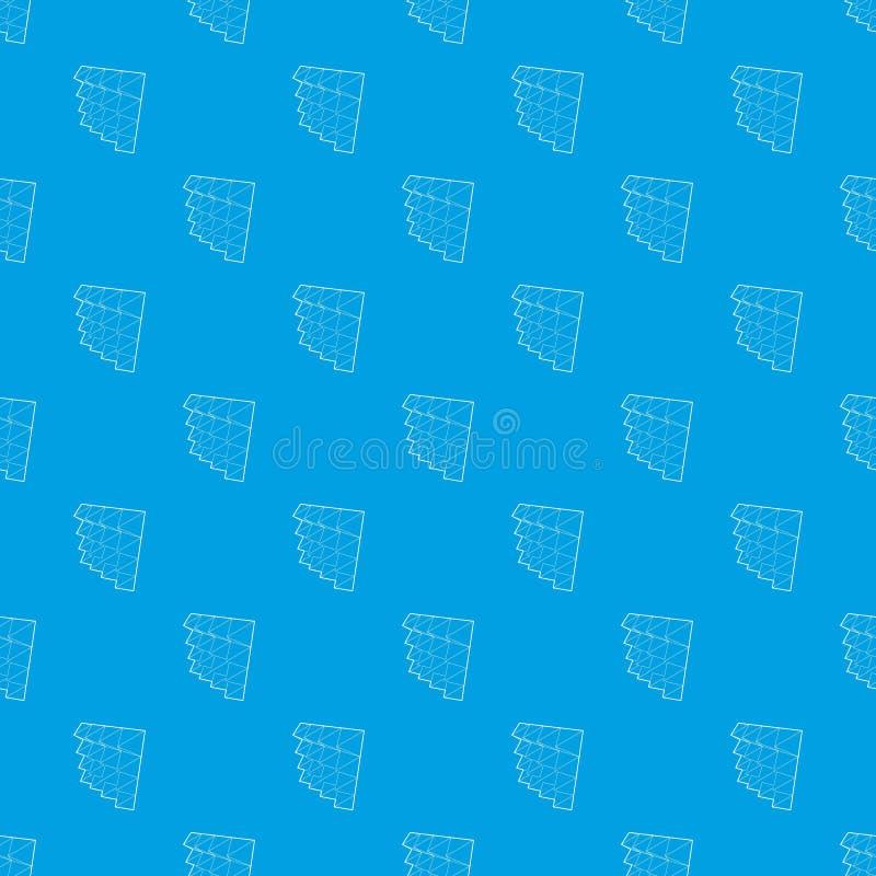 Azul sem emenda do vetor do teste padrão da isolação do estúdio ilustração stock
