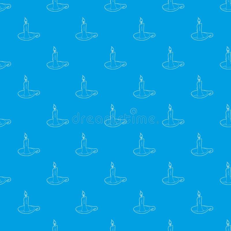 Azul sem emenda do vetor do teste padrão da vela ilustração stock