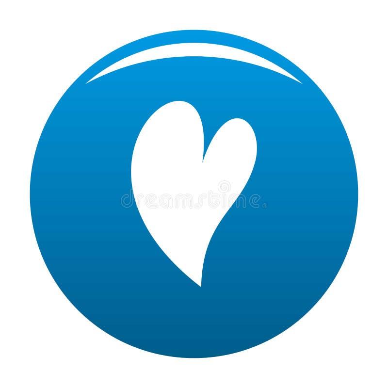 Azul surdo do vetor do ícone do coração ilustração do vetor