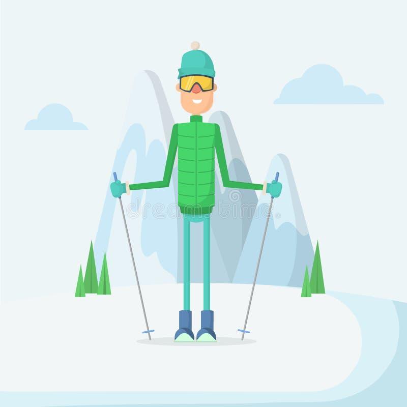 Azul, tarjeta, huésped, embarque, ejercicio, extremo, diversión, cometa, kiteboard, kiteboarding, kitesail, kitesurf, kiting, lag ilustración del vector