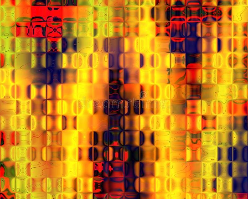Azul vermelho do amarelo genético dos blocos de cristal da arte ilustração do vetor