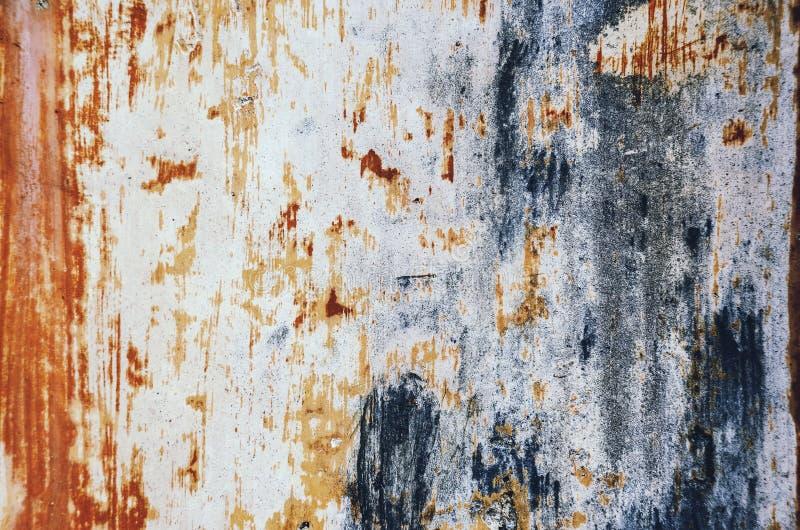 Azul viejo, rasguñado, antiguo, textura del metal fotografía de archivo
