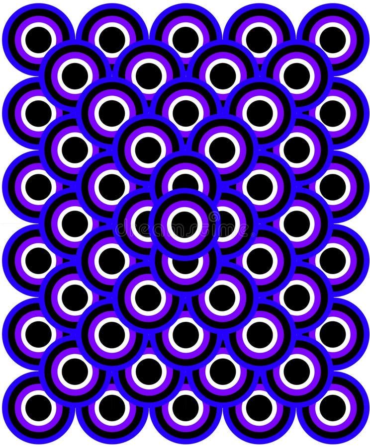 Azul Viol dos olhos da arte Op mil ilustração royalty free