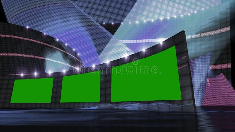 Azul virtual del sistema de las noticias del entretenimiento libre illustration