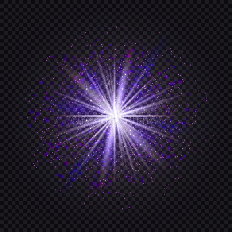 Azul y efecto ligero púrpura del brillo de la estrella que brilla intensamente SP mágico del resplandor libre illustration