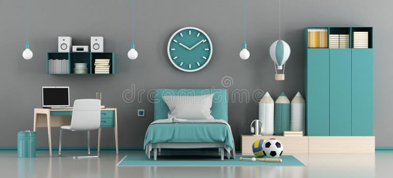 Azul y gris embroma el sitio libre illustration