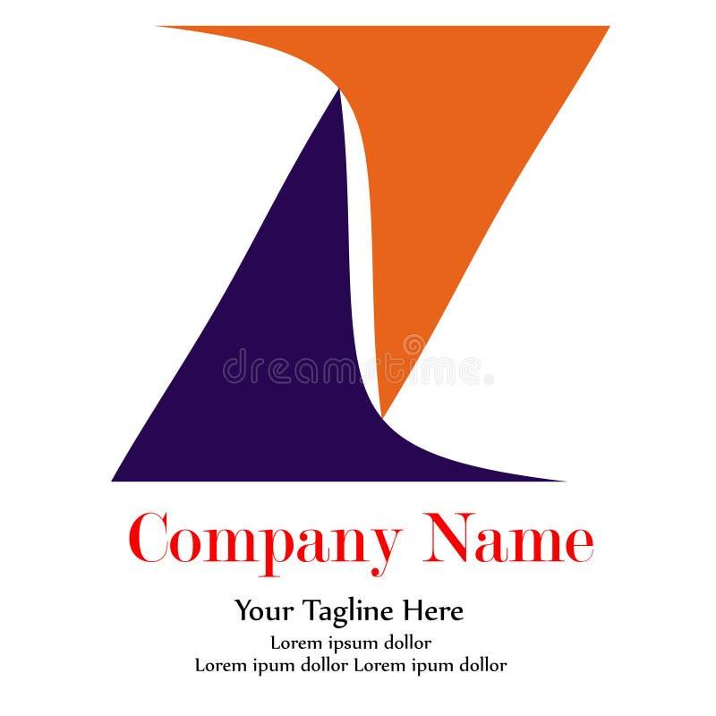Azul y naranja simples de Leter Z del logotipo ilustración del vector