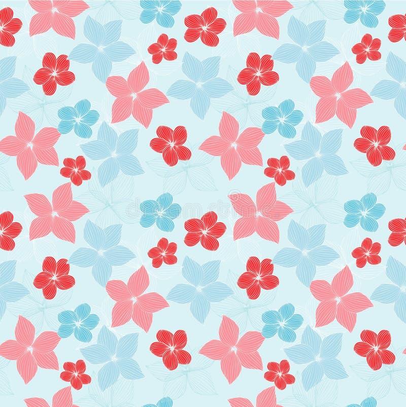 Azul y rosa stock de ilustración