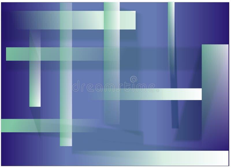Azul y verde stock de ilustración