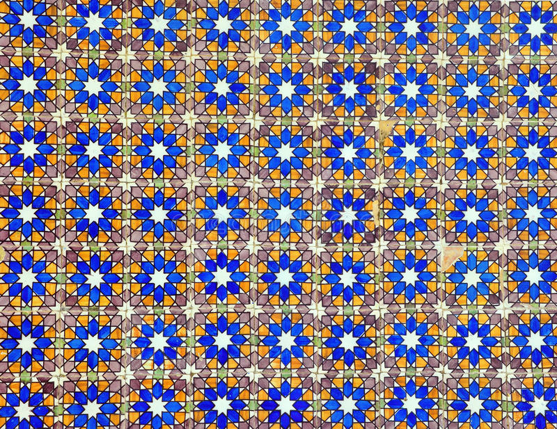 Azulejo样式背景 免版税库存照片